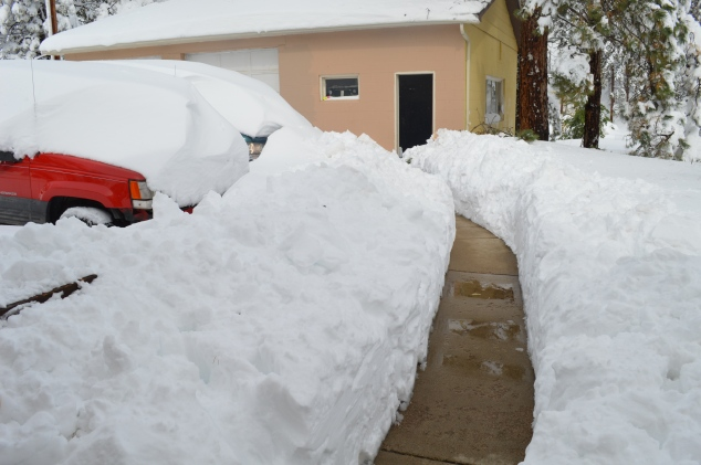 this is from our front door to the garage
