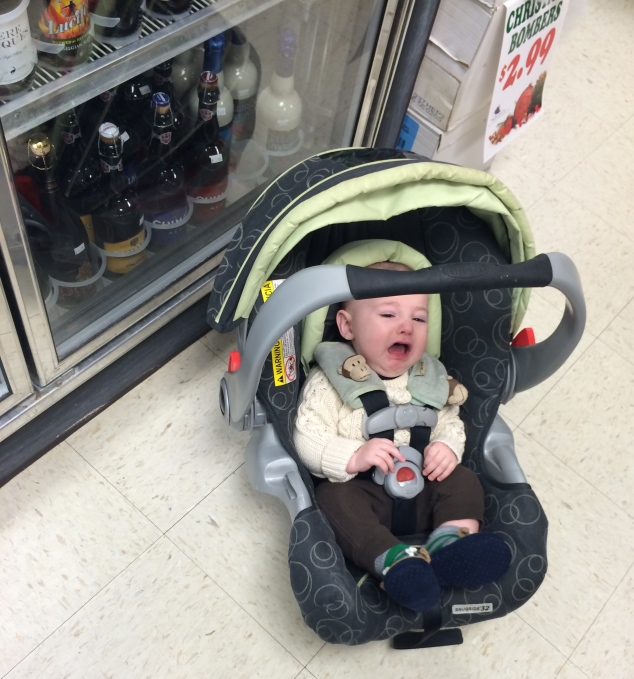 Willem is unimpressed with the liquor store
