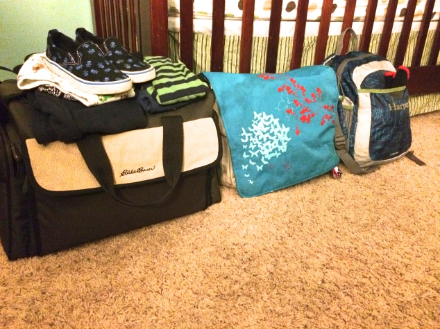 Heading out, 2 kids, 3 days