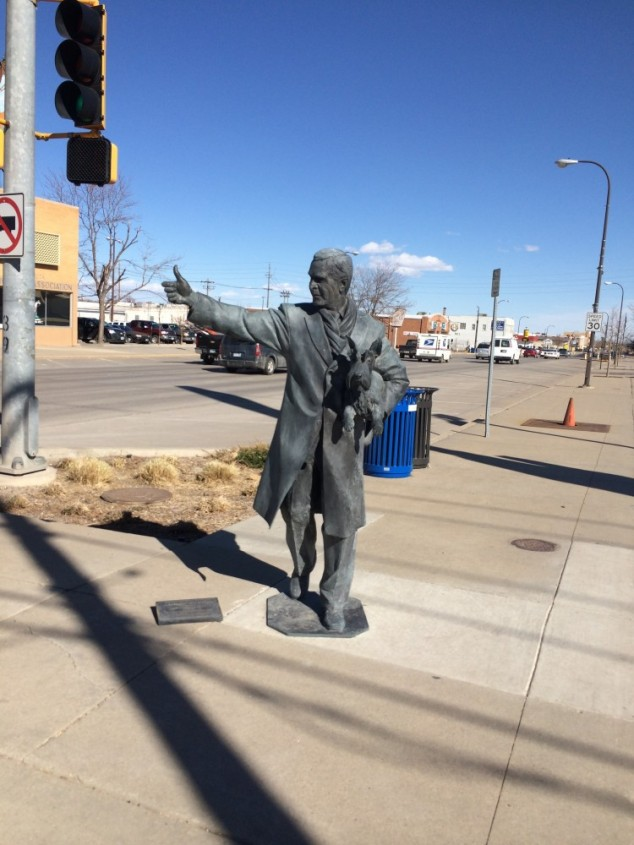 Rapid City has statues of presidents on all the corners downtown. Here is George W and a dog. I couldn't tell if he was giving a thumbs up or looking for a ride but he sure does look happy.