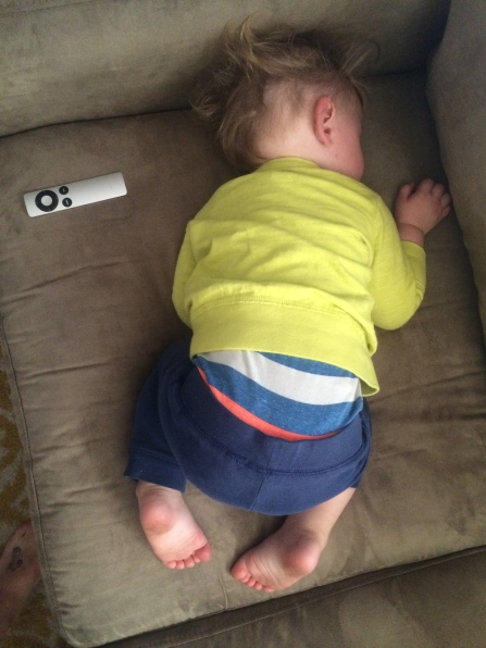 I'm too afraid to take a photo of him in his crib. Here's a morning nap instead.